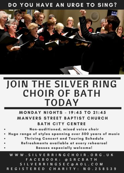 The Silver Ring Choir of Bath Rehearsal Information